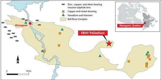 Max Resource EBAY Palladium Location Map
