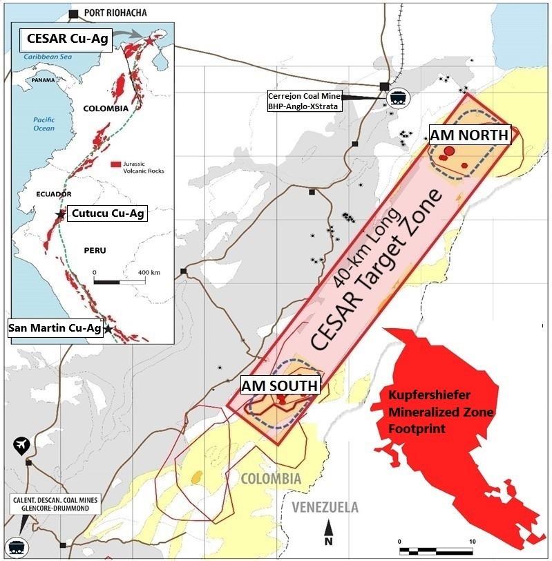 Figure 1. CESAR target zone location